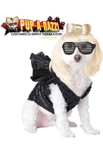 Pup-A-Razzi Pop Sensation Dog Costume, Small, Black - Collection Bodysuit