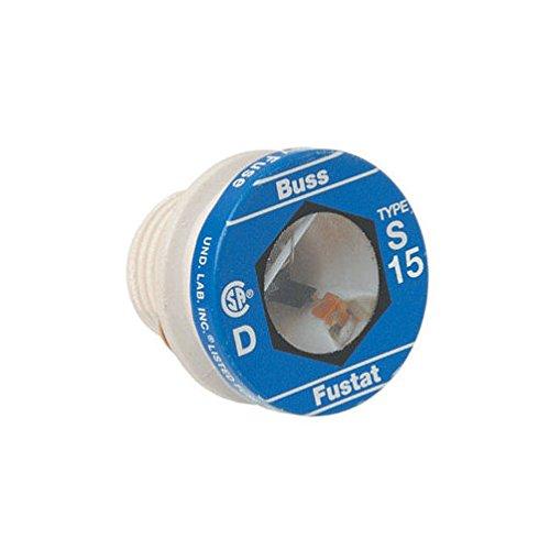 Bussmann Tamper Proof Plug Fuse Dual Element, Type S 15 Amp 125 V Industrial Strength Box / 4 - Tamper Proof Fuses