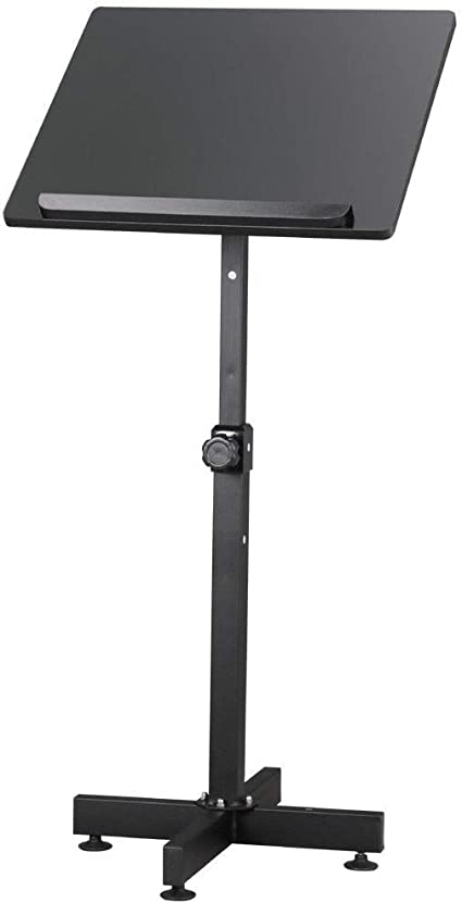 Black Lectern - Soporte portátil para libro de podio, con ruedas, para canciones, pulpits de enseñanza, iglesia, 19.7 x 18.1 x 48 pulgadas (largo x ancho x alto).: Amazon.es: Oficina y papelería