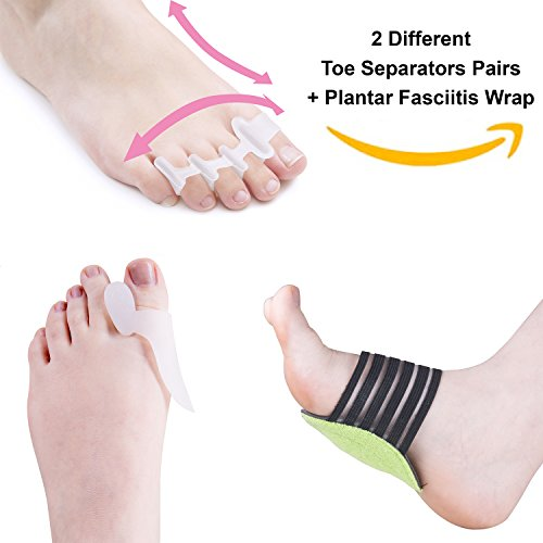 Yoga Shoes For Bunions: Toe Separators For Bunions Plantar Fasciitis Hammer Toes