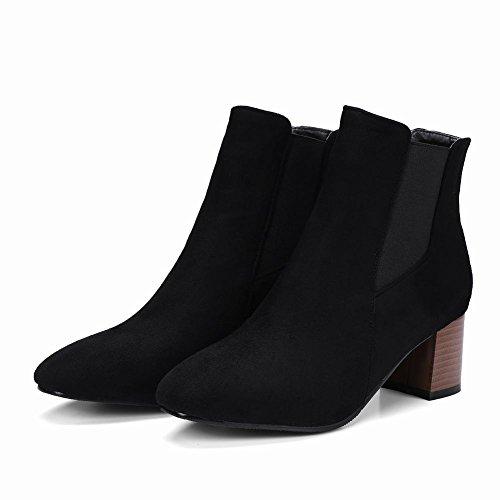 Charm Black Leopard Boots Women's Foot Chelsea UZrgwqUpx