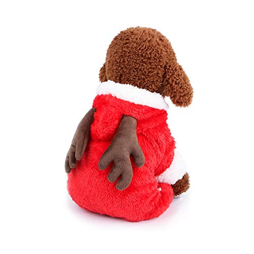 Sile Pet Clothes, Christmas Pet Dress Up Halloween Pet Clothing Winter Warm Pet Coat Thicken Pet Apparel for Dog Cat SL-001 (Color : Red, Size : L)]()