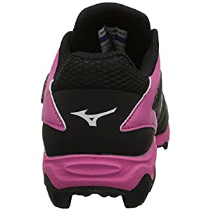 Mizuno 9 Spike ADV Yth Finch FRHSE6 BP Youth Girls Molded Cleat (Little Kid/Big Kid), Black/Pink, 5 M US Big Kid