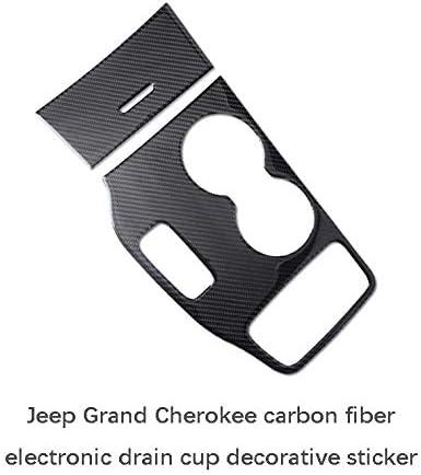 2014-2015 Nologo Auto Innenleisten Dekoration Carbon-Faser-Electronic Gear Shifter-Panel Dekoration Paste Auto-Innen Modifikation for Jeep Grand Cherokee