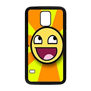 Smiley-face Samsung Galaxy S5 Cell Phone Case Black MSU7218081