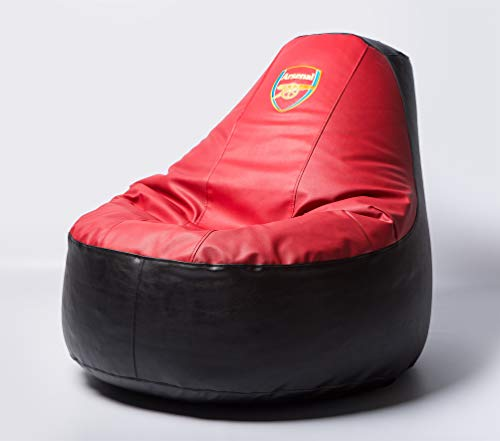 (Arsenal Football Beanbag Comfortable Kids Adult Game Outdoor Indoor Lounge Chair Cover + Inner Bag (Without Beans))