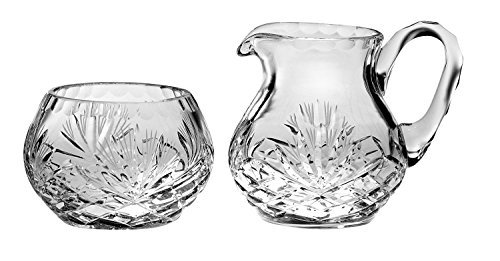 Barski - Hand Cut - Mouth Blown - Crystal - Sugar & Creamer - Set - Made in Europe