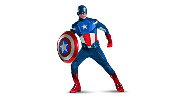 Disfraz The Avengers Captain America Traje Elite adultos X ...
