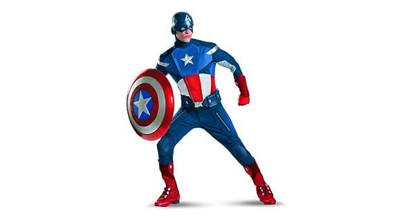 Amazon.com: Disfraz Capitán América Vengadores Teatral ...