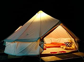 Oxford canvas waterproof Bell Tent With Zipped in Ground Sheet (4M Dia) : waterproof canvas tent - memphite.com