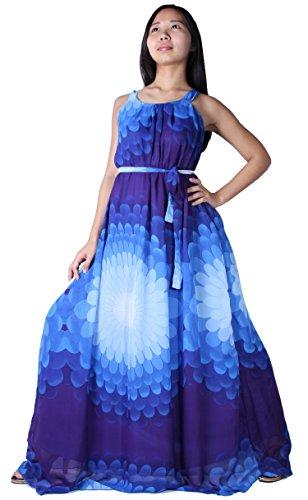 MayriDress Women's Maxi Dress Long Summer Floral Plus Size Clothing (3X, Blue Sun) (Plus Size Fairy Dress)