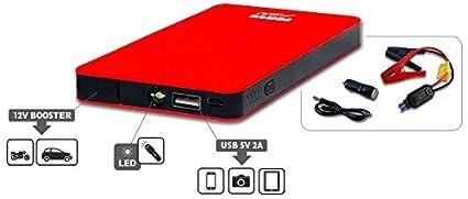 FERVE F-500 Arrancador para USB 12V: Amazon.es: Coche y moto