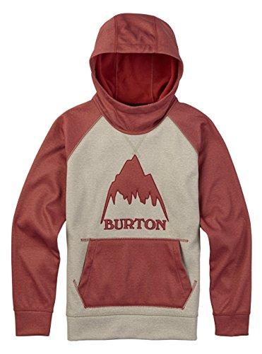 Burton Boys Crown Bonded Pullover Hoodie, Safari Heather/Bosa Nova Heather, Small