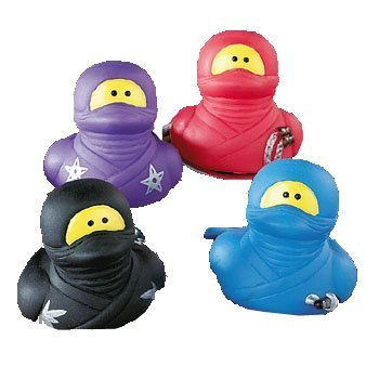 One Dozen (12) ~ Ninja Rubber Duckys Children, Kids, Game ()