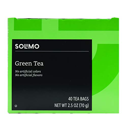 Amazon Brand - Solimo Green Tea Bags, 40 Count (Pack of 5)
