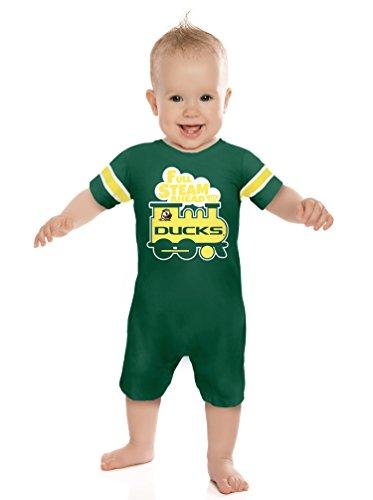 - Cheekie Peach NCAA Oregon Ducks Boys Infant Full Steam Onesie, 0-3 Months, Green