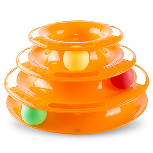 Hollypet Detachable 3-Level Tower of Tracks Ball Interactive Cat (Trackball Track)