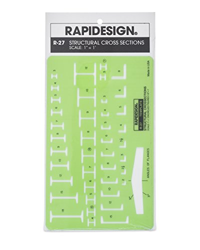 Rapidesign Structural Cross-Section Template, 1 Each (R27)