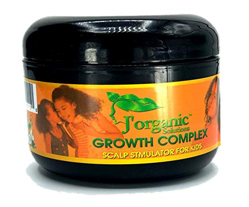 J'Organic Solutions hair growth Scalp stimulator (Hand Made Hair Grease for Kids) Softer, shinier, healthier hair, with Lanolin, Sweet Almond Oil, Castor Oil & More