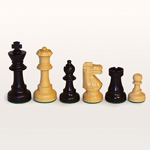 Black and Natural Boxwood French Knight Chess Pieces by World - Pieces Knight Chess French