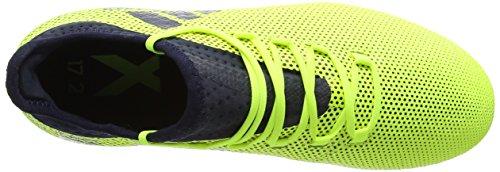 adidas X 17.2 Fg, Scarpe da Calcio Uomo Giallo (Solar Yellow/Legend Ink/Legend Ink)