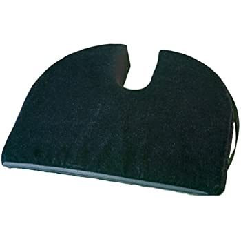 RelaxoBak Back and Coccyx Support - Orthopedic Car Seat Wedge Cushion includes Black Velour Cover - Relieves Pain and Discomfort from Sitting Backache, Tailbone Pain, Hip Pain, Sciatica