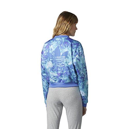 Manches Adidas Longues Femme Bleu Chemisier 8qwTR6