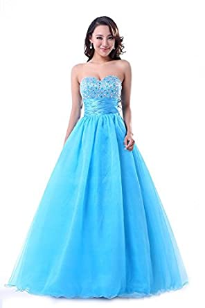 Amazoncom Balllily Womens Prom Quinceanera Party Ball Gown Size