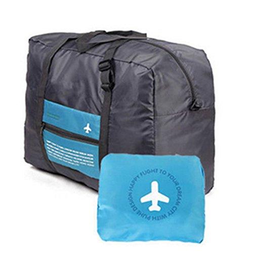 Kicode Waterproof Foldable Travel Bag Duffel Lightweight Large Capacity Portable Luggage Bag Sports Gym Vacation