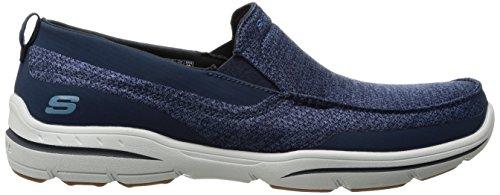 Skechers Usa Mens Mocassino Slip-on Mocassino Blu Scuro