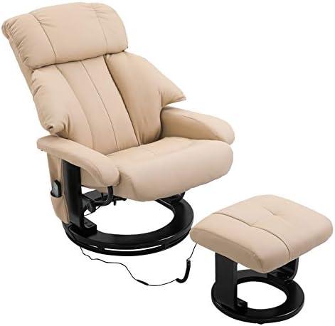 Editors' Choice: HOMCOM PU Leather Massage Swivel Recliner Chair and Ottoman