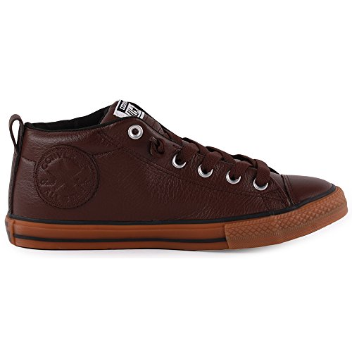 Converse Chuck Taylor All Star Street Kids Leather Trainers Chocolate - 37 EU