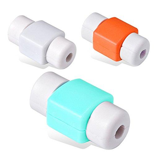 Distinct® 10pcs Coperchio Saver cavo del cavo di Protector USB per iPhone colore casuale