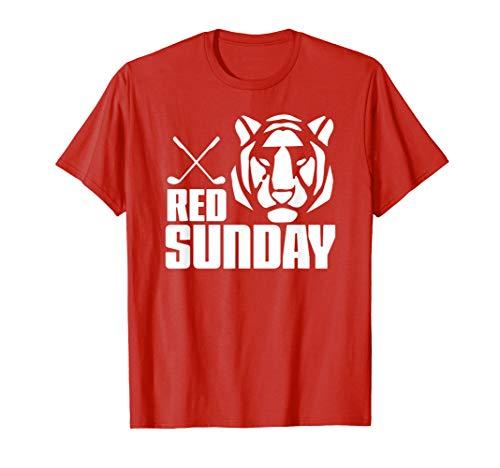 Tiger Red Sunday Golf tshirt