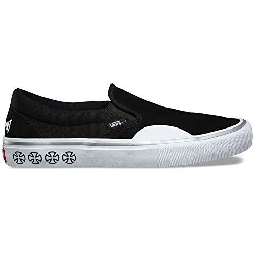 【Vans x Independent】 バンズ 【Slip On Pro】 Black/White スリッポン スケボー 靴 スニーカー スケシュー スリップオン プロモデル インディペンデント インディ コラボ