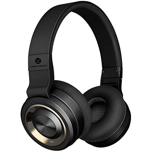 LINPA M1 Bluetooth headphones with built-in Microphone, Comfortable, Hi-Fi and Powerful Bass, 30 Hour Playtime - Black by L LINPA WORLD