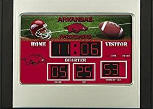 Arkansas Razorbacks Logo Digital Scoreboard Alarm Clock - Arkansas Razorbacks Clock