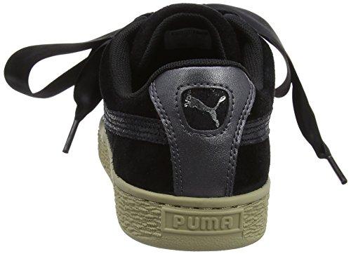 Mujer black Safari Zapatillas Puma Para black Suede Negro Heart XqcvS