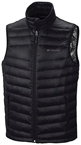 Columbia Men's Platinum 860 Zip Down Vest L, Black