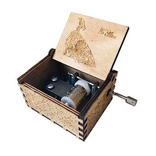 VDV Music Box - Antique Carved Music Box Game of Thrones Music Box Star Wars Wooden Hand Crank Theme Music Box ()