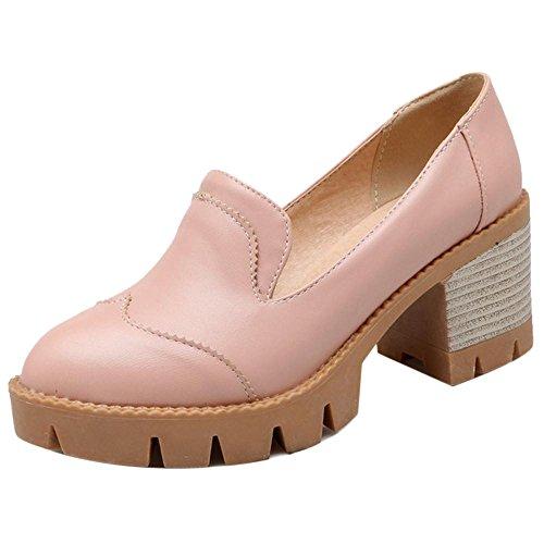 COOLCEPT Damen Ohne Verschluss Pumps Schuhe Pink