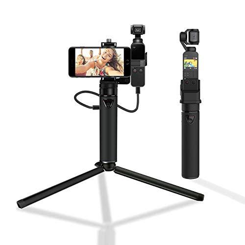 Smatree Portable Osmo Pocket PowerStick(Power Bank) Compatible for DJI Osmo Pocket 2 & DJI Osmo Pocket, Handheld Smartphone Holder Mount Bracket with Tripod for Osmo Pocket Camera