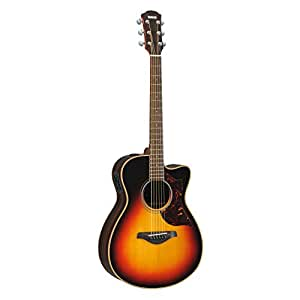 yamaha a series ac1r small body acoustic electric guitar with case vintage sunburst. Black Bedroom Furniture Sets. Home Design Ideas