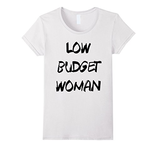 [Womens Cheap Halloween Costume Low Budget Woman Funny T-Shirt Large White] (Trash Bag Costume)