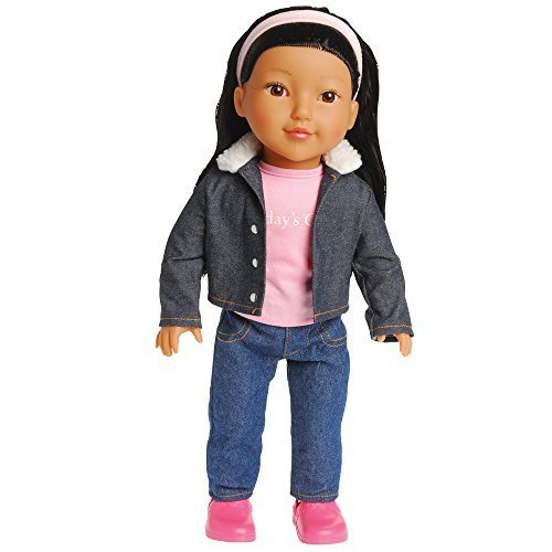 "Today's Girl Dolls by CP Toys – 18"" Leah Doll, Asian Features with Black Hair – Compatible With All 18"" Doll Accessories Including American Girl, Our Generation, and ()"