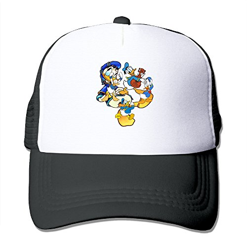 OwperD Unisex Black Donald Duck Adjustable Baseball Caps One Size ()