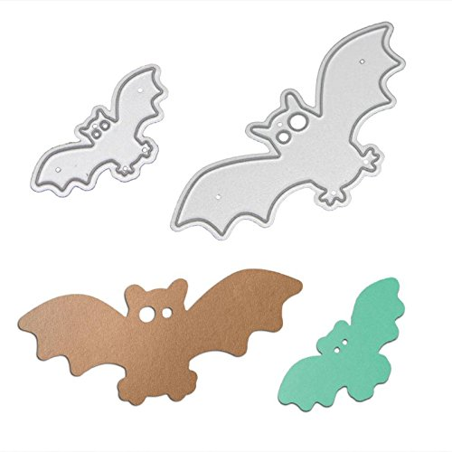 2pcs Halloween Bat Cutting Dies Stencils DIY Photo Albumn Decorative Embossing Folder Scrapbooking Paper Craft
