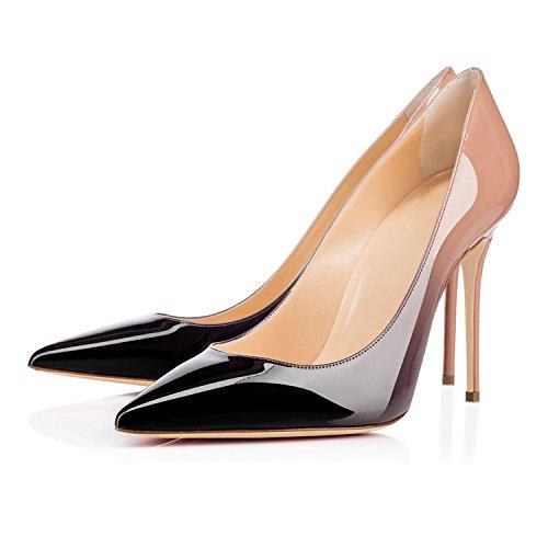 EDEFS Donna Gradient Scarpe Scarpe con Donna Estate 10CM da Tacco Eleganti a7T6ga