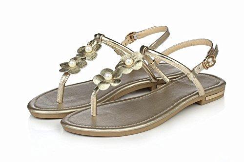 Ciondolo Sandalo Donna Applique A Tanga Con Cinturino E Infradito Oro