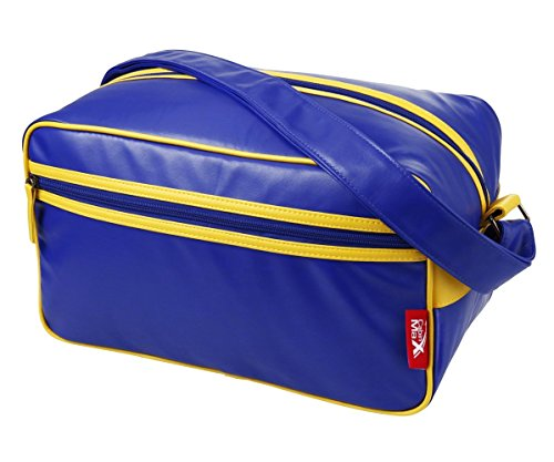 Cabin Max Arezzo Stowaway Bag 35X20x20cm Ipad   Tablet Travel Shoulder Bag   Perfect Second Bag For Ryanair  Blue Yellow